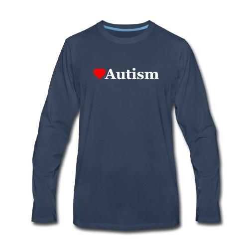 Heart Autism w - Men's Premium Long Sleeve T-Shirt