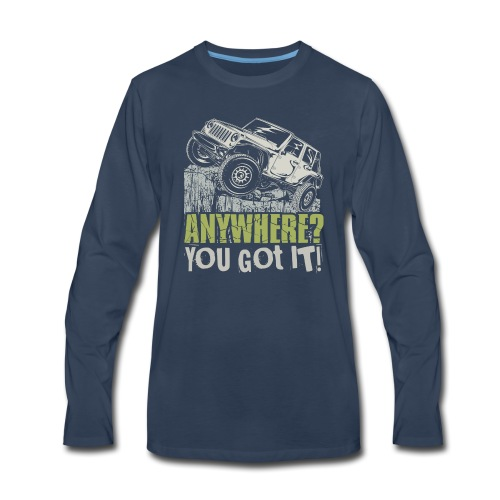 Jeep Anywhere - Men's Premium Long Sleeve T-Shirt