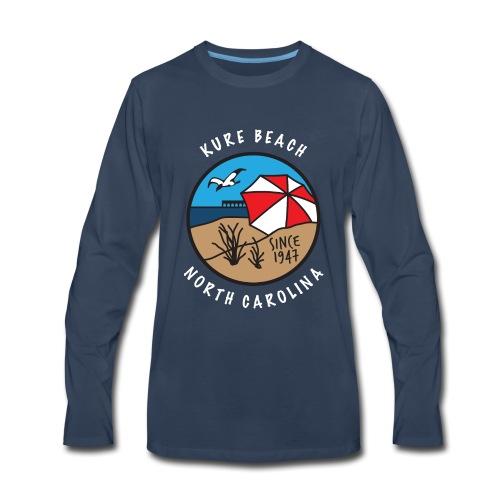 Kure Beach Day-White Lettering-Front Only - Men's Premium Long Sleeve T-Shirt