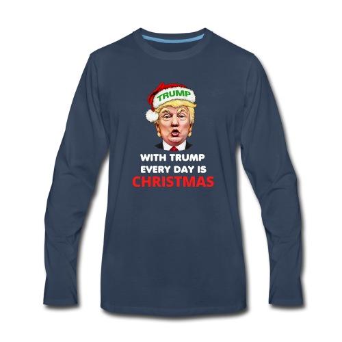 Trump Funny Christmas Ugly Sweater - Men's Premium Long Sleeve T-Shirt