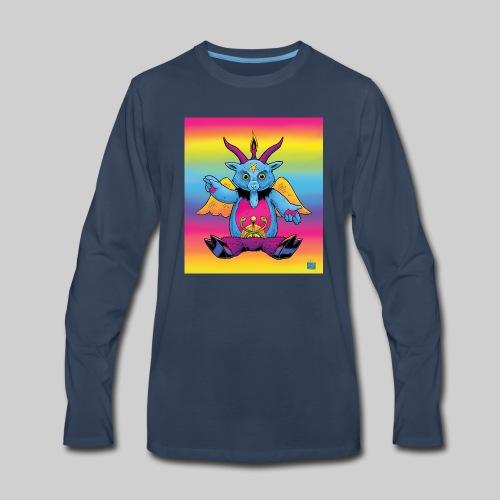 Rainbow Baphomet - Men's Premium Long Sleeve T-Shirt