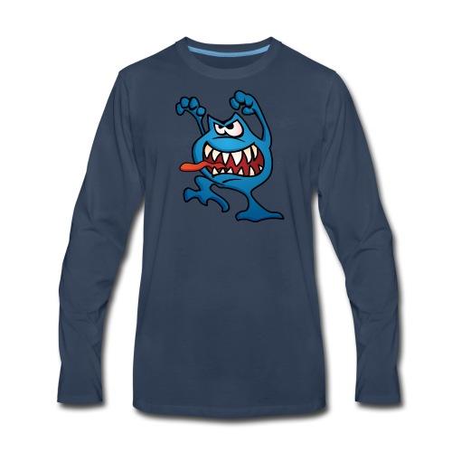 cartoon monster 4 - Men's Premium Long Sleeve T-Shirt