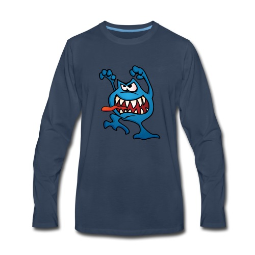 cartoon monster 4 - Men's Premium Long Sleeve T-Shirt