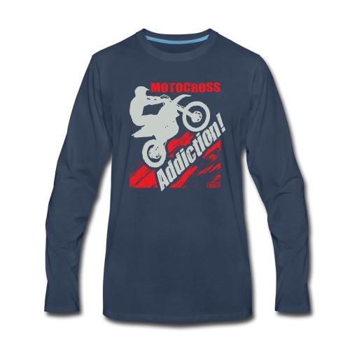 Motocross Addiction - Men's Premium Long Sleeve T-Shirt