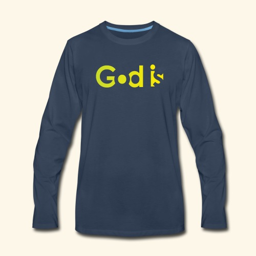 GOD IS #7 - Men's Premium Long Sleeve T-Shirt