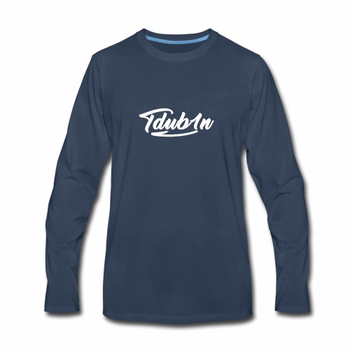 Tdub1n White Logo - Men's Premium Long Sleeve T-Shirt