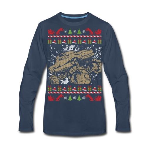 Ugly Christmas Mud Truck - Men's Premium Long Sleeve T-Shirt