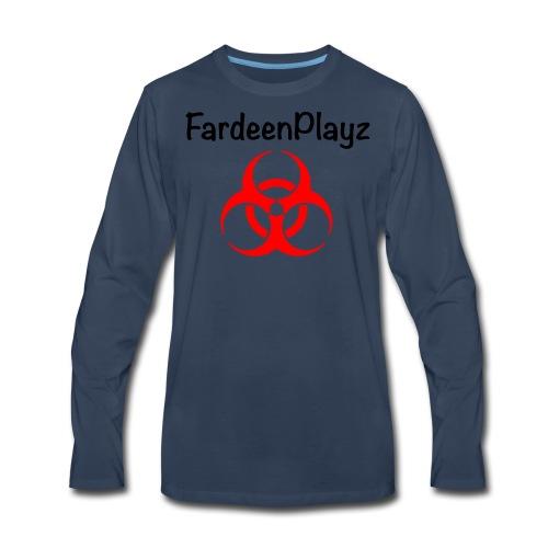 FardeenPlayz At Top W/ Logo - Men's Premium Long Sleeve T-Shirt