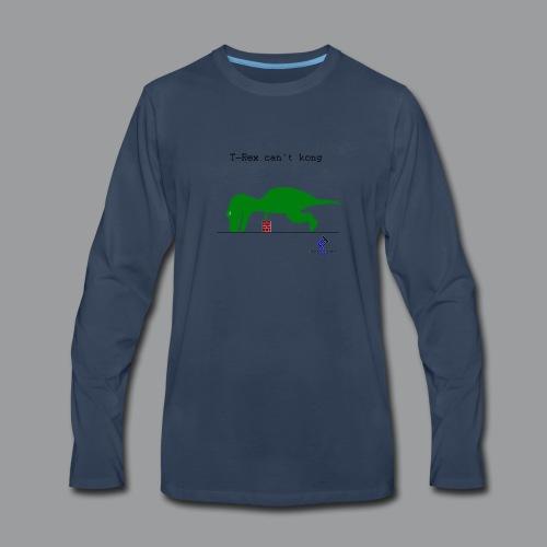 T-Rex Can't Kong - Men's Premium Long Sleeve T-Shirt