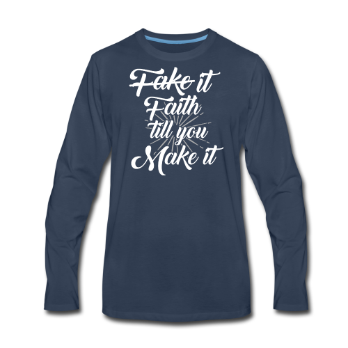 Faith Design - Men's Premium Long Sleeve T-Shirt