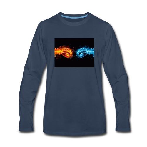 fire fist vs water fist DPOY Logo - Men's Premium Long Sleeve T-Shirt