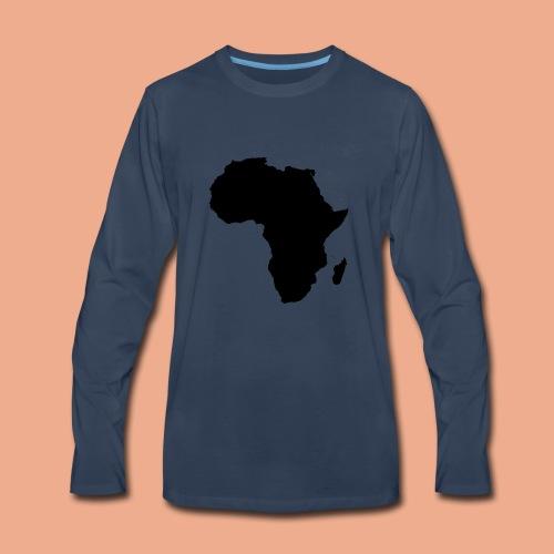 Africa map silhouette - Men's Premium Long Sleeve T-Shirt