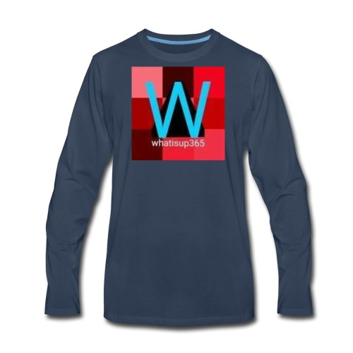 Whatisup365's logo 2014-2015 - Men's Premium Long Sleeve T-Shirt