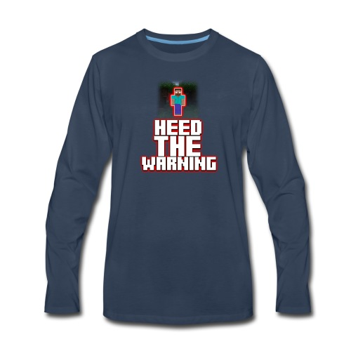 Heed The Warning #HerobrineMovie - Men's Premium Long Sleeve T-Shirt