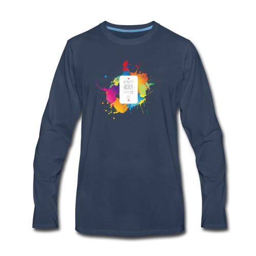 Gray life without a boxer - Men's Premium Long Sleeve T-Shirt
