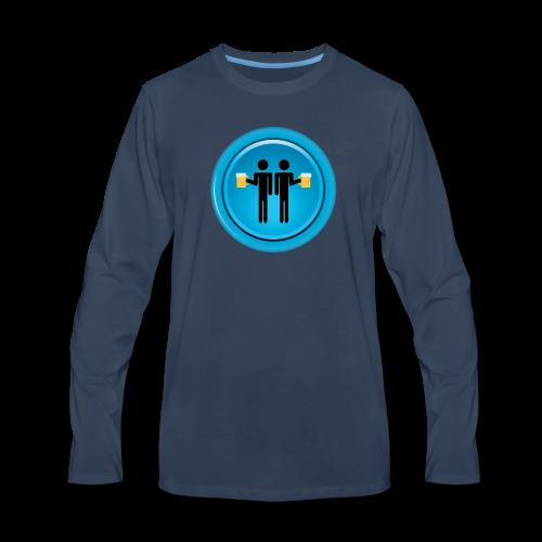 Drinking Buddies Blue - Men's Premium Long Sleeve T-Shirt