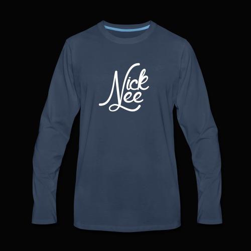 Nick Lee Logo - Men's Premium Long Sleeve T-Shirt