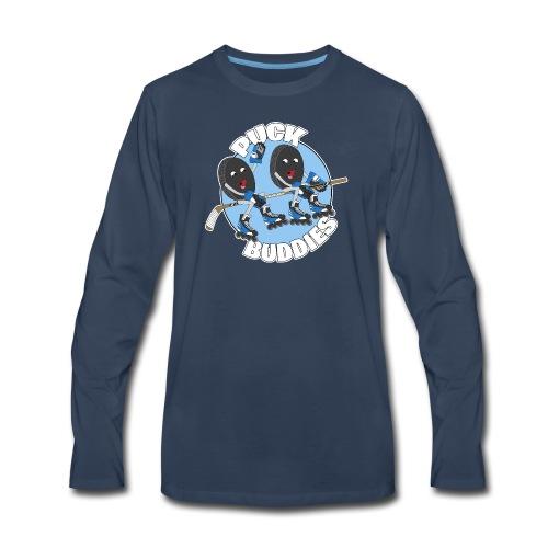 Puck Buddies Logo - Men's Premium Long Sleeve T-Shirt