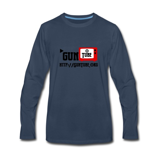 GunTube Shirt with URL - Men's Premium Long Sleeve T-Shirt