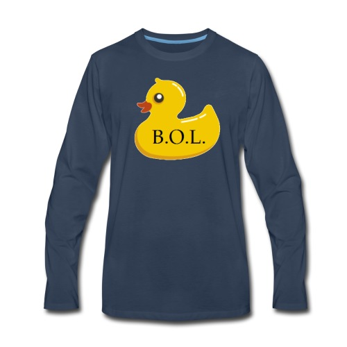 Official B.O.L. Ducky Duck Logo - Men's Premium Long Sleeve T-Shirt