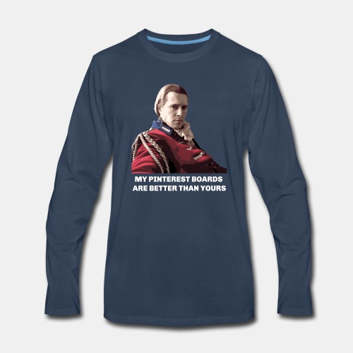 Lord John Grey - Pinterest Boards - Men's Premium Long Sleeve T-Shirt