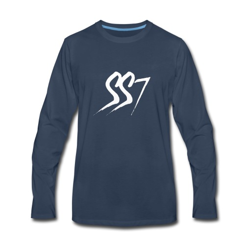 SS7 White logo - Men's Premium Long Sleeve T-Shirt