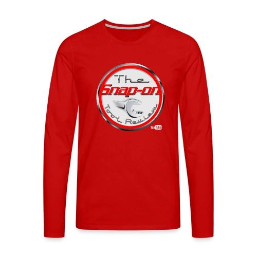 red logo white youtube - Men's Premium Long Sleeve T-Shirt