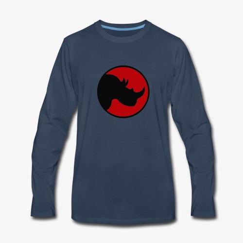 rhino logo - Men's Premium Long Sleeve T-Shirt
