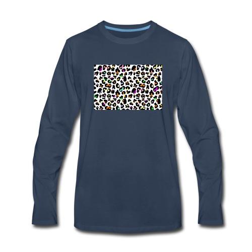 Colorful Animal Print - Men's Premium Long Sleeve T-Shirt