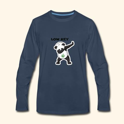 LOW KEY DAB BEAR - Men's Premium Long Sleeve T-Shirt