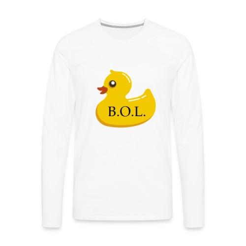Official B.O.L. Ducky Duck Logo - Men's Premium Long Sleeve T-Shirt