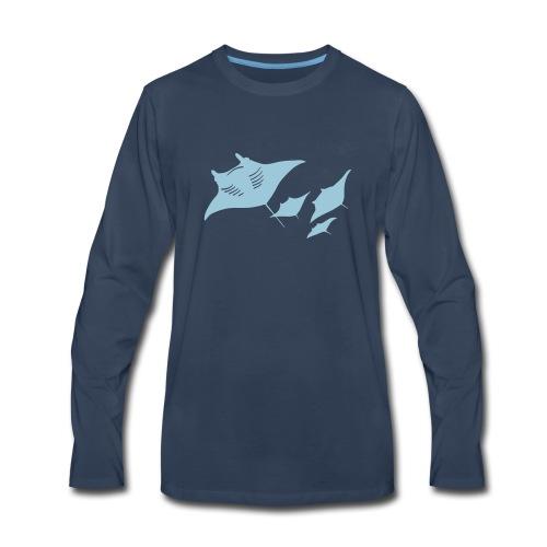 manta ray sting scuba diving diver dive - Men's Premium Long Sleeve T-Shirt