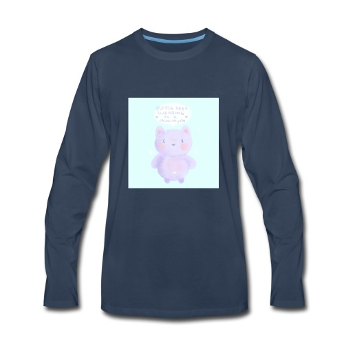 nightbot is adorble - Men's Premium Long Sleeve T-Shirt