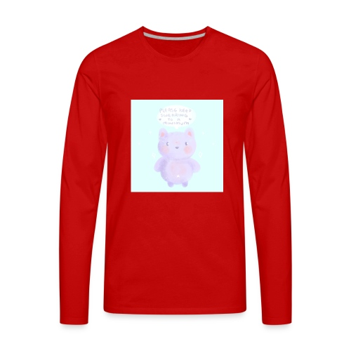 nightbot is adorble - Men's Premium Long Sleeve T-Shirt