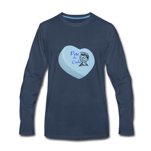 Pete the Cooler Candy Heart - blue - Men's Premium Long Sleeve T-Shirt
