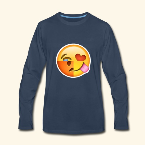 E Tees , Unique , Love , Cry, angry - Men's Premium Long Sleeve T-Shirt