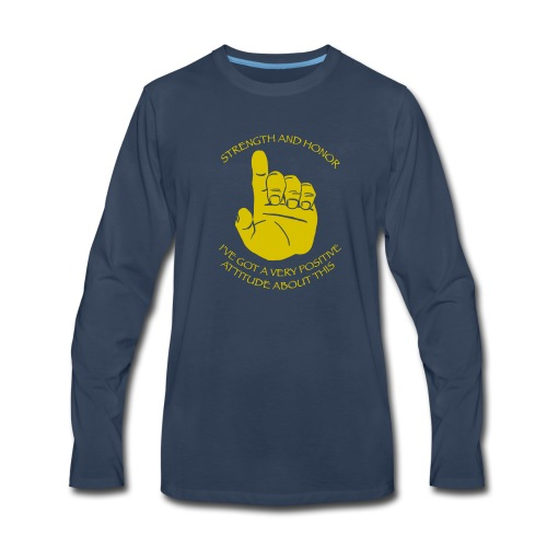 Positive Attitude - Men's Premium Long Sleeve T-Shirt
