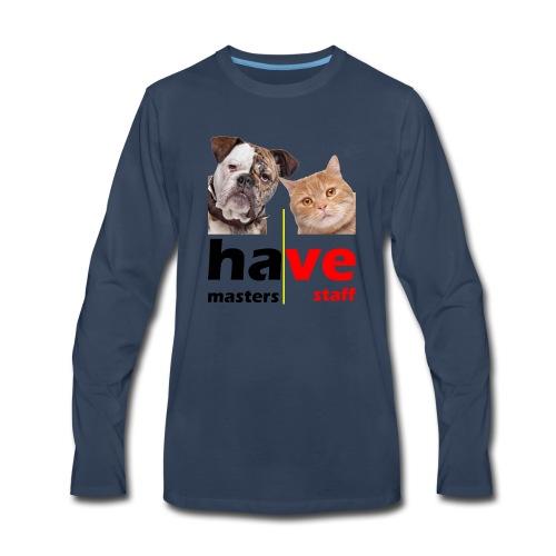 Dog & Cat - Men's Premium Long Sleeve T-Shirt