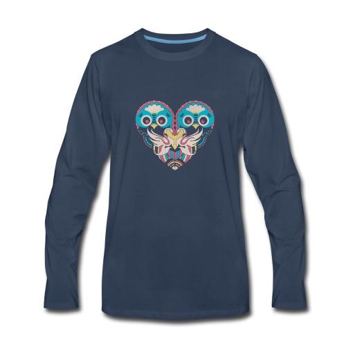 hearts of owls - Men's Premium Long Sleeve T-Shirt