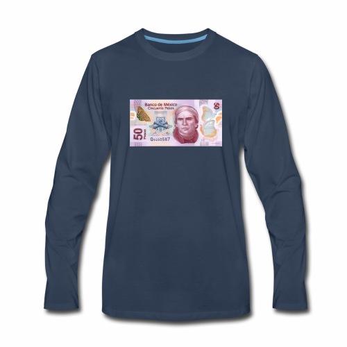 mexico 50 pesos jose maria morelos morelia aqu - Men's Premium Long Sleeve T-Shirt