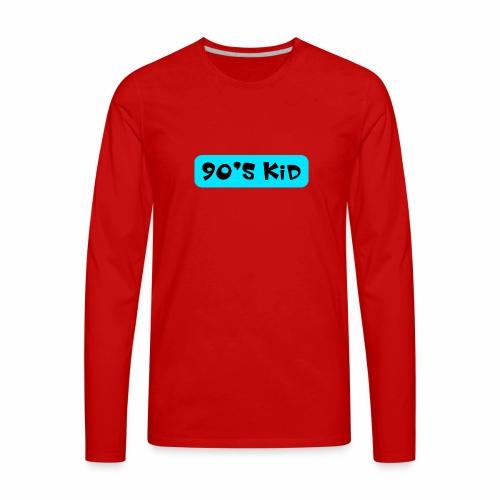 90's KID - Men's Premium Long Sleeve T-Shirt