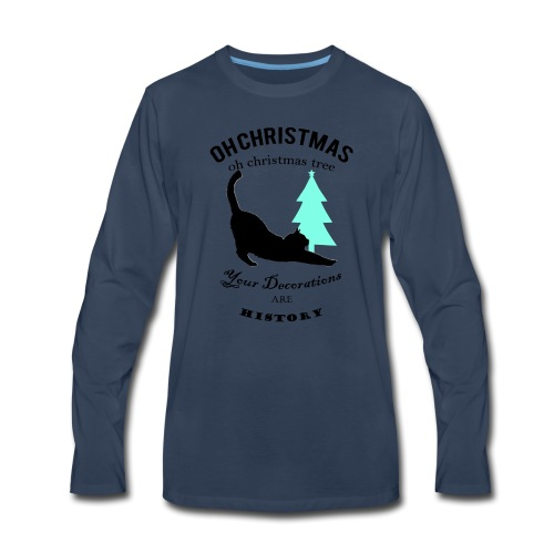 Christmas kitty - Men's Premium Long Sleeve T-Shirt