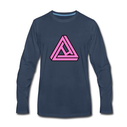 Breast Cancer Awareness Logo - Men's Premium Long Sleeve T-Shirt