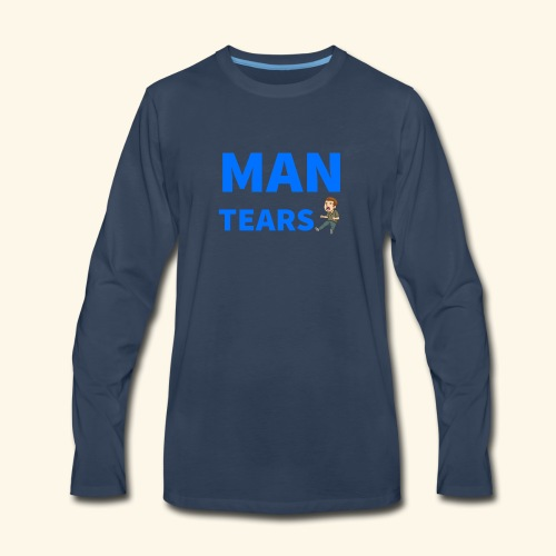 Man Tears Mug - Men's Premium Long Sleeve T-Shirt