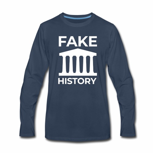 Fake History: Colonial Style Buildings Worldwide - Men's Premium Long Sleeve T-Shirt