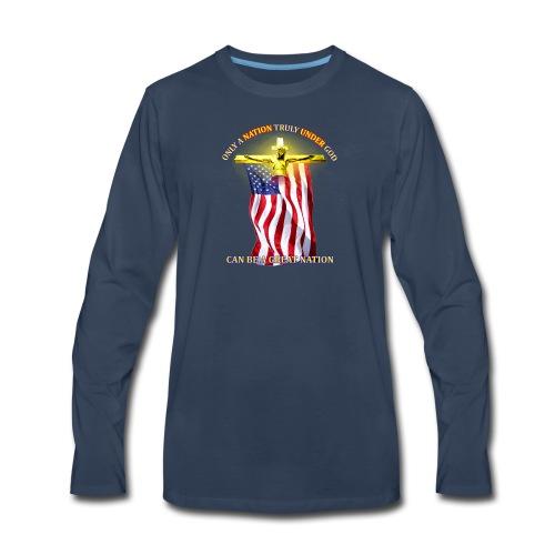 Only Under God - Men's Premium Long Sleeve T-Shirt