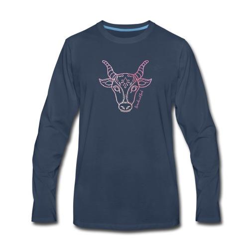 Vegan Cow T Shirts - Men's Premium Long Sleeve T-Shirt