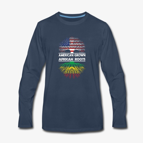 American Grown With African Roots T-Shirt - Men's Premium Long Sleeve T-Shirt