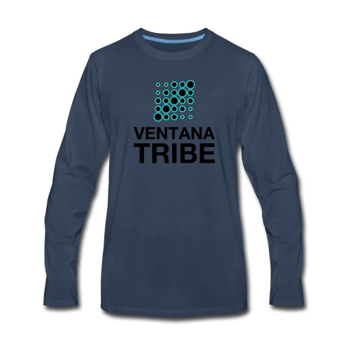 Ventana Tribe Black Logo - Men's Premium Long Sleeve T-Shirt