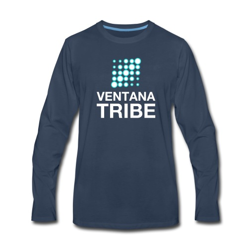 Ventana Tribe White Logo - Men's Premium Long Sleeve T-Shirt